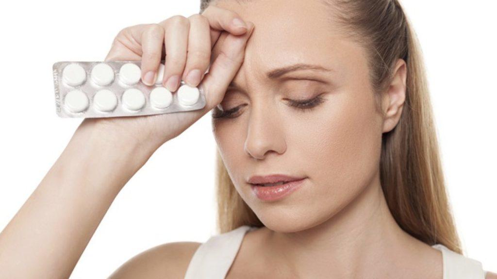 Лечение головной боли в области лба