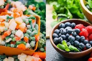 Свежие или замороженные фрукты и овощи