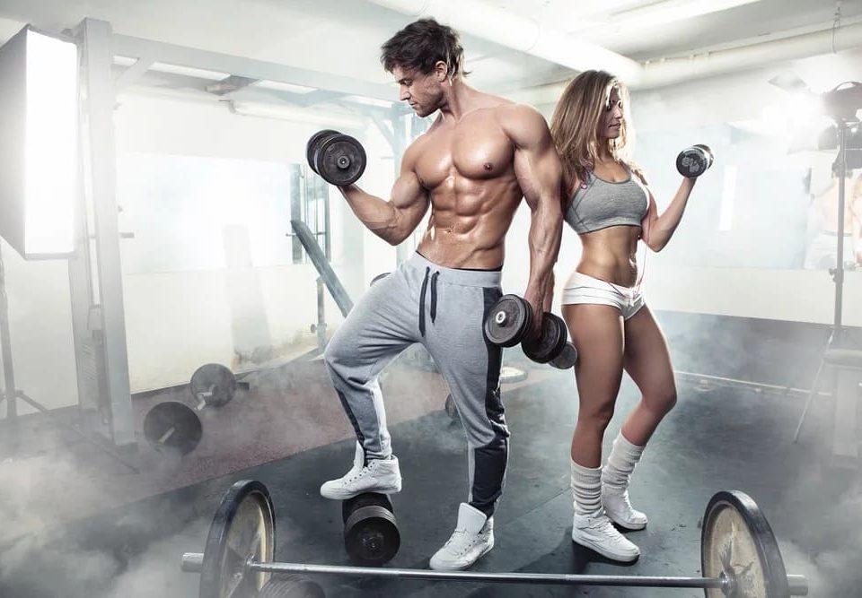 спортивный парень и девушка